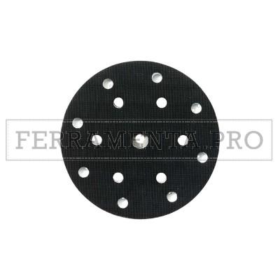 PLATORELLO VELCRATO 150 MM FORATO 8 + 6 FORI RICAMBIO per METABO SXE 450