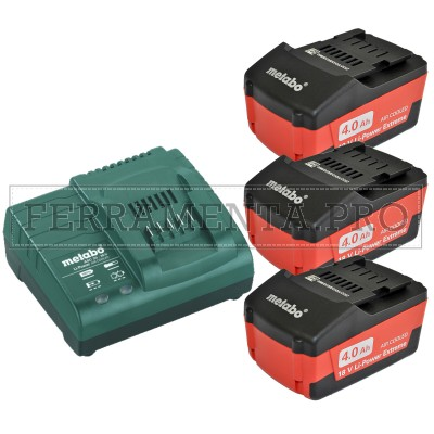 METABO SET DI BASE 3 X 4,0 AH