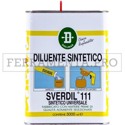 DILUENTE SINTETICO SVERDIL® 111 5l ALTA QUALITÀ