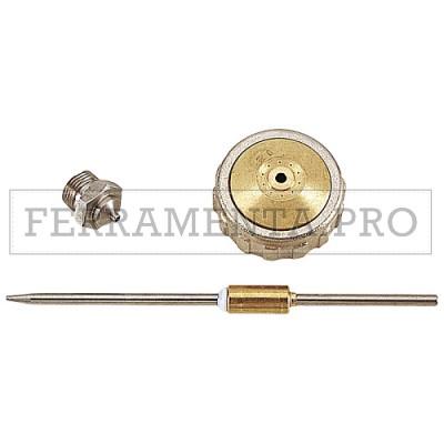 ASTURO AS880013125 - RICAMBI PER AEROGRAFI PB/NE: AGO, CAPPELLO, UGELLO Ø 2,5 MM - AST-0013125