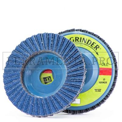 DISCO ABRASIVO LAMELLARE SUPPORTO PLASTICA 125mm allo ZIRCONIO Fast Grinder DLE
