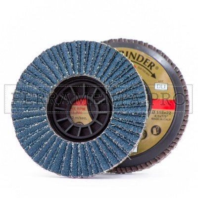 DISCO ABRASIVO INDUSTRIALE 115mm allo ZIRCONIO Fast Grinder DLI