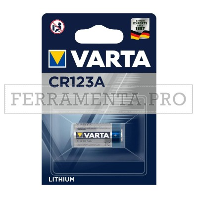 BATTERIA PILA VARTA al LITIO CR123A 3V 123A per FOTOCAMERE DIGITALI FLASH TORCE