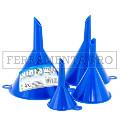 KIT 4 IMBUTI in PLASTICA ASSORTITI 50 75 100 125 mm