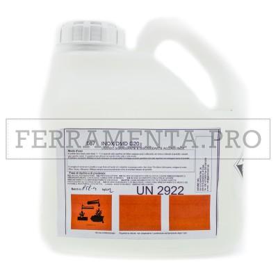 LIQUIDO SGRASSANTE CONCENTRATO DECAPANTE per ACCIAIO INOX D/MD G20 2Kg