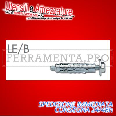 Tassello ancorante metallico LE/B8 12 x 60 mm con bullone 8 mm