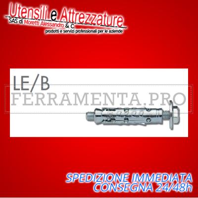 Tassello ancorante metallico LE/B10 15 x 75 mm con bullone 10 mm