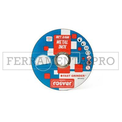 KIT 25 DISCHI ABRASIVI MOLA TAGLIO PROFESSIONALE MCT A46N FERRO ACCIAIO INOX