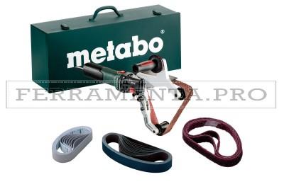 Metabo RBE 15-180 Set Levigatrice a nastro per tubi in Valigetta metallica