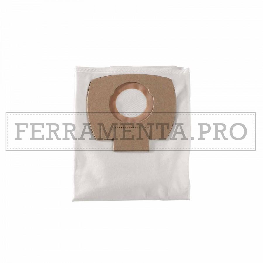 5x sacchetti in tessuto per aspirapolvere Metabo ASA 25 L PC ASA 30 L PC Inox