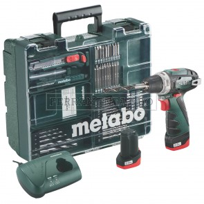 METABO TRAPANO-AVVITATORE A BATTERIA DA 10,8 VOLT POWERMAXX BS BASIC SET OFFICINA MOBILE