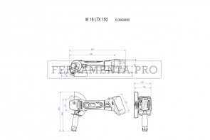 Metabo W 18 LTX 150 Quick Smerigliatrice angolare a batteria in Valigetta in plastica