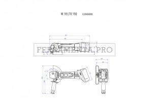 Metabo W 18 LTX 150 Quick Smerigliatrice angolare a batteria