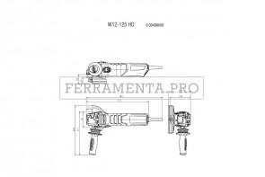 Metabo W 12-125 HD Smerigliatrici angolari
