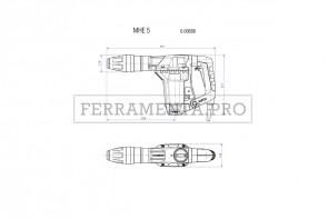 Metabo MHE 5 Martello scalpellatore in Valigetta in plastica