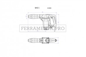Metabo MHE 5 Set Martello scalpellatore in Valigetta in plastica