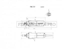 Metabo FME 737 Fresatrice verticale; motore per fresare e rettificare