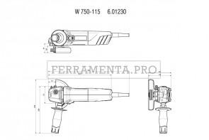 Metabo W 750-115 Smerigliatrici angolari