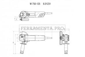 Metabo W 750-125 Smerigliatrici angolari