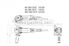 Metabo WEV 1500-125 RT Smerigliatrici angolari
