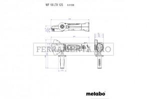 Metabo WF 18 LTX 125 Quick Smerigliatrice angolare a testa ribassata, a batteria in Valigetta in plastica