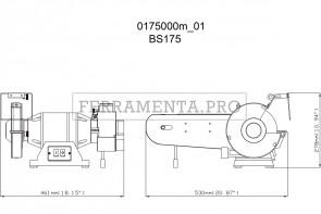 Metabo BS 175 Smerigliatrice doppia da banco