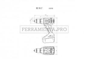 Metabo BS 18 LT Compact Trapano-avvitatore a batteria in Valigetta in plastica