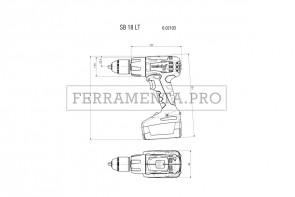 Metabo SB 18 LT Compact Trapano-avvitatore a percussione a batteria in Valigetta in plastica