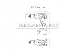 Metabo BS 18 LT Quick Trapano-avvitatore a batteria in Valigetta in plastica