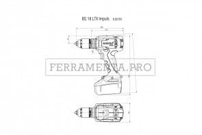 Metabo BS 18 LTX Impuls Trapano-avvitatore a batteria in MetaLoc