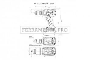 Metabo BS 18 LTX-X3 Quick Trapano-avvitatore a batteria in Valigetta in plastica
