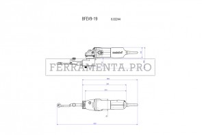 Metabo BFE 9-20 Set Lima a nastro in Valigetta metallica
