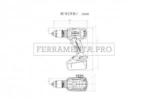 Metabo BS 18 LTX BL I Trapano-avvitatore a batteria in MetaLoc