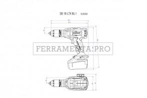 Metabo SB 18 LTX BL I Trapano-avvitatore a percussione a batteria in MetaLoc
