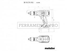 Metabo SB 18 LTX-3 BL I Trapano-avvitatore a percussione a batteria in MetaLoc