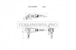 Metabo W 22-230 MVT Smerigliatrici angolari