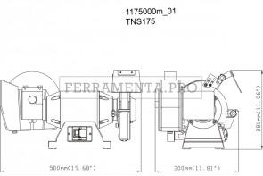 Metabo TNS 175 Smerigliatrice doppia da banco