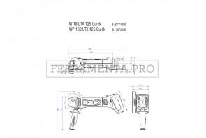 Metabo WP 18 LTX 125 Quick Smerigliatrice angolare a batteria