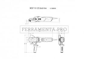 Metabo WEVF 10-125 Quick Inox Smerigliatrice angolare a testa ribassata