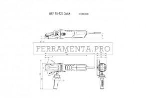 Metabo WEF 15-125 Quick Smerigliatrice angolare a testa ribassata