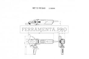 Metabo WEF 15-150 Quick Smerigliatrice angolare a testa ribassata