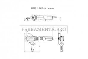 Metabo WEPBF 15-150 Quick Smerigliatrice angolare a testa ribassata