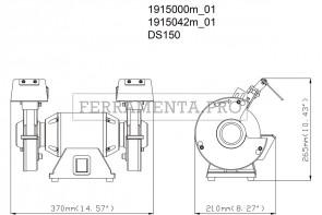 Metabo DS 150 Smerigliatrice doppia da banco