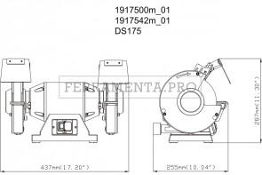 Metabo DS 175 Smerigliatrice doppia da banco