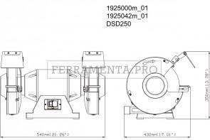Metabo DSD 250 Smerigliatrice doppia da banco