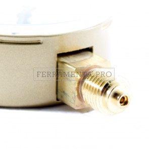 MANOMETRO 0-6 bar 32 lt/CFH per GAS CO2 ARGON RICAMBIO RIDUTTORE di PRESSIONE