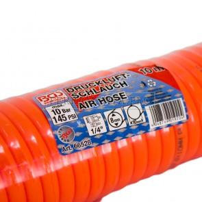 TUBO A SPRIALE PER ARIA COMPRESSA 10 METRI RACCORDO ATTACCO INNESTO RAPIDO 8x10mm per COMPRESSORE
