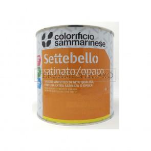 VERNICE SMALTO SINTETICO SETTEBELLO per METALLO e LEGNO Lt. 0,750 Bianco opaco