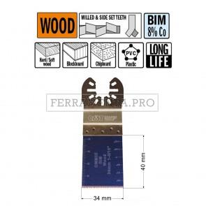 LAMA LONG LIFE TAGLIO LEGNO PLASTICA 34mm per CMT 11 MULTIFUNZIONE OSCILLANTE UNIVERSALE