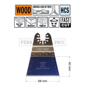 LAMA TAGLIO PRECISIONE LEGNO PLASTICA 68mm per CMT 11 MULTIFUNZIONE OSCILLANTE UNIVERSALE